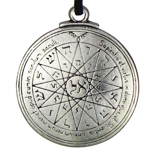 Mystic Anillo de Cábala de mercurio para conocimiento divino colgante talismán collar LVfyAI