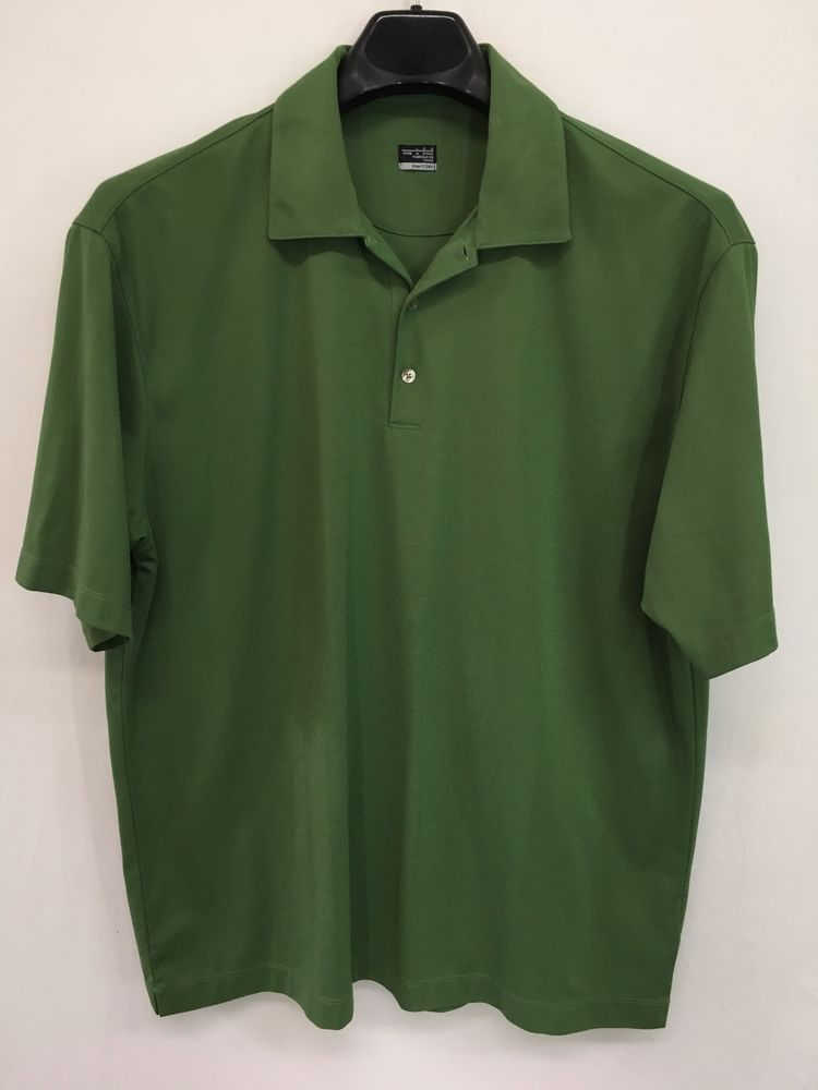 5829b839e MENS LARGE NIKE FIT DRY TIGER WOODS COLLECTION POLO SHIRT GREEN GOLF  Nike   PoloRugby