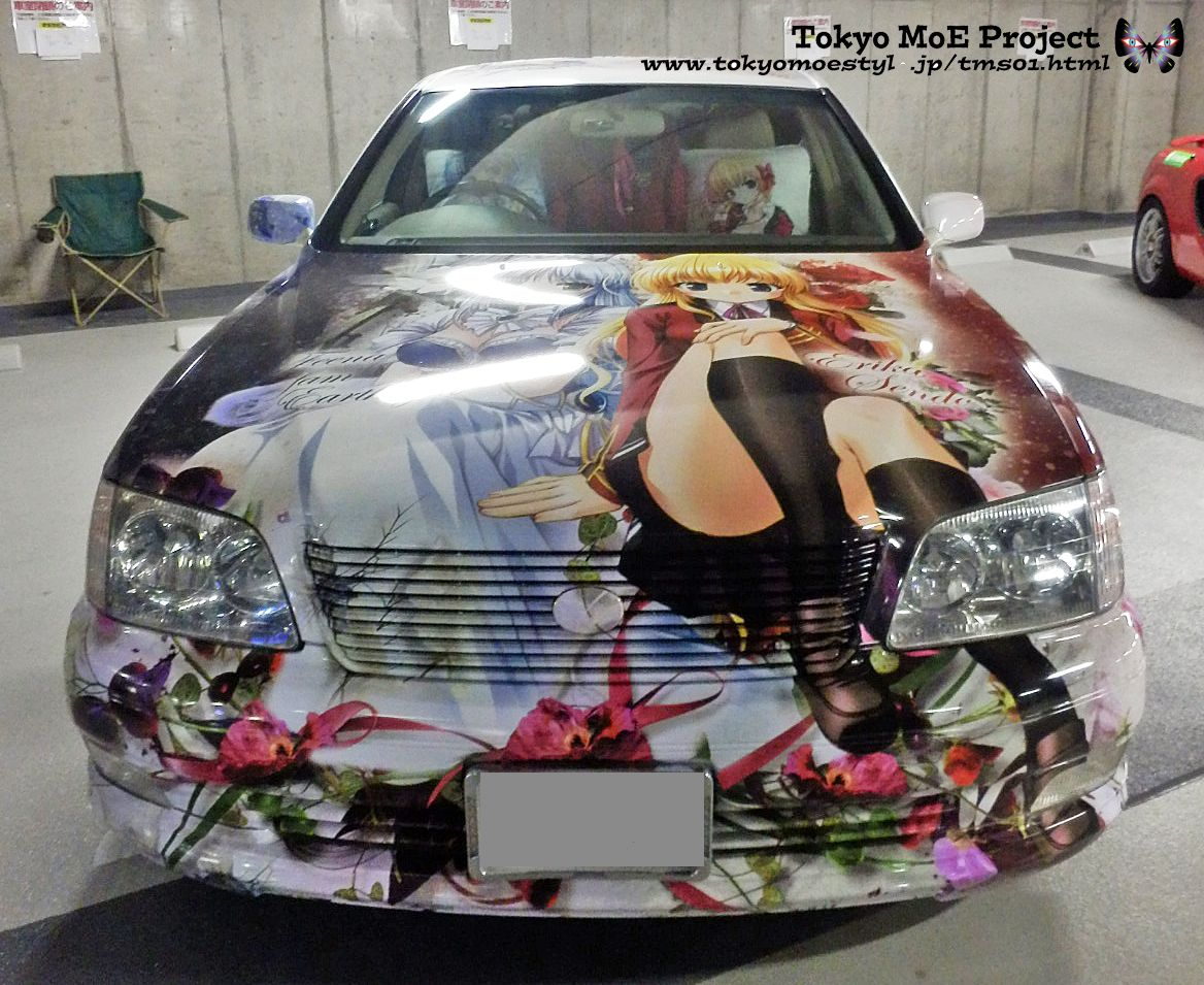 Itasha car mods vehicle wraps custom paint jobs japan cars car wrap