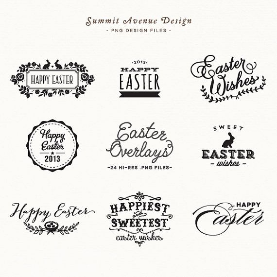 SALE Easter Overlay design elements for personal von