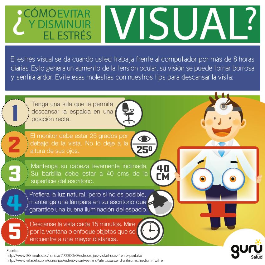 Cómo evitar el estrés visual #infografia #infographic # ...