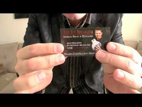 Awesome business card trick magic tricks pinterest awesome awesome business card trick colourmoves
