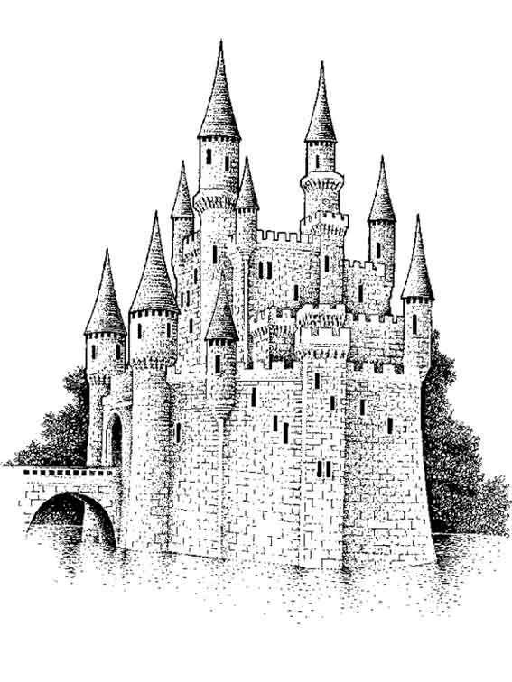 coloriage | coloriage chateau fort | Pinterest | Dessin de ...
