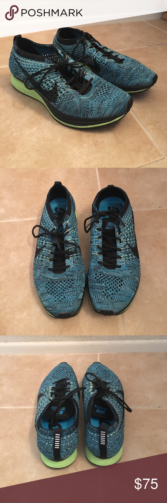 Nike flyknit racer Men's size 5.5 will fit a women's size 7. Great condition. Barely worn. Ships without box. Will accept reasonable offers. Nike Shoes Athletic Shoes
