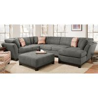 Best Contemporary Gray 3 Piece Sectional Sofa With Raf Chaise 400 x 300