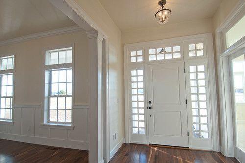 open space, rather than interior doors
