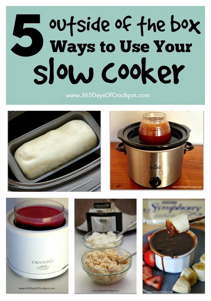"""5 """"outside of the box"""" Ways to use your CrockPot!  I've never thought of some of these before!  Good to know..."""