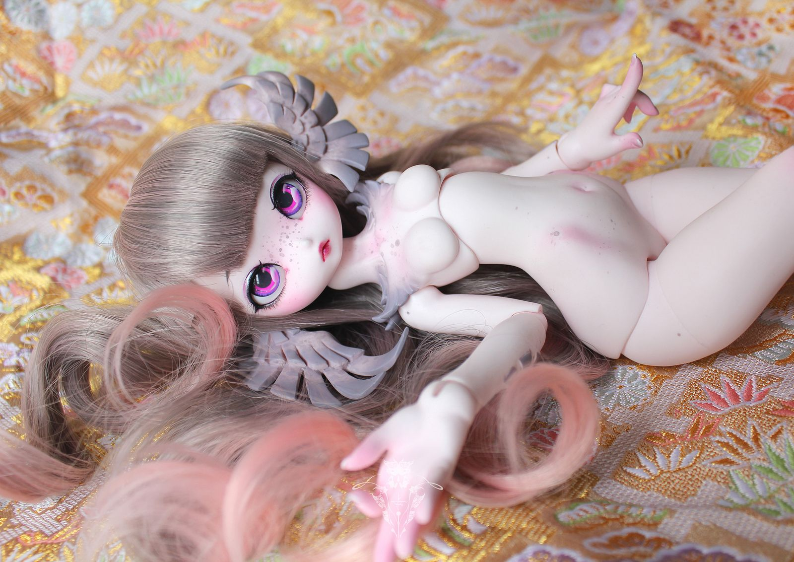 """Third Airelle, done ! by Enaibi. """"This is my third Airelle. Once again she is pink... not same than the 2 previous ones but, pink anyway ^^"""""""