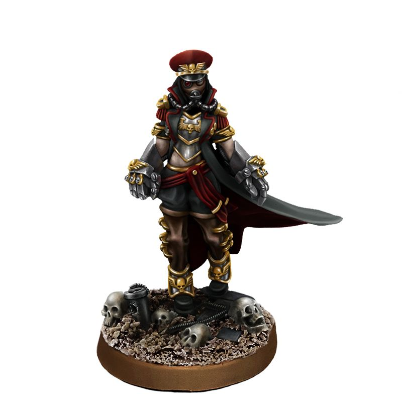 Imperial Soldier Female Commissar With Fists Of Power