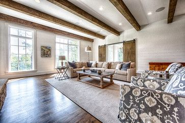87 Crown Pointe - transitional - family room - birmingham - Toulmin Homes