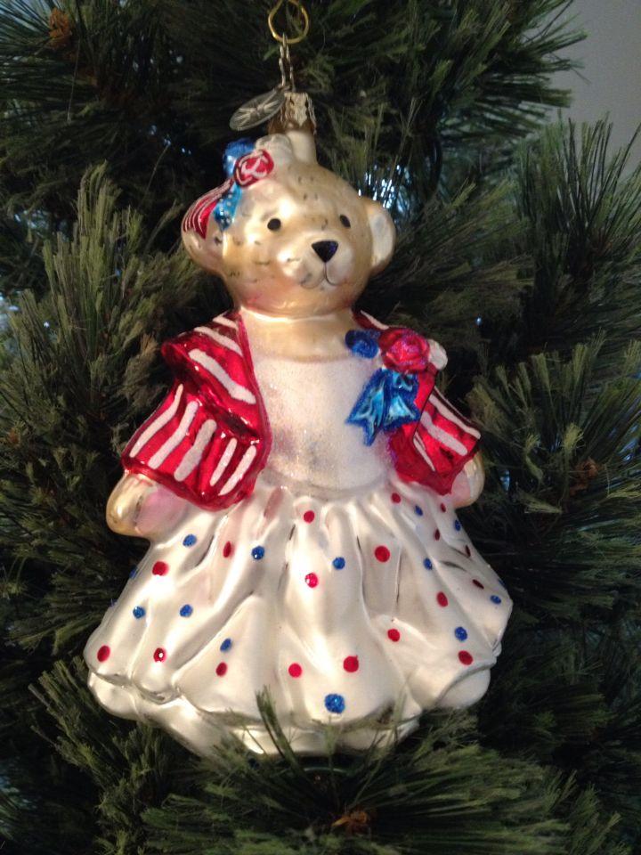 Retired Radko Muffy Sparkler Ball Christmas Ornament.....✓️ - Retired Radko Muffy Sparkler Ball Christmas Ornament