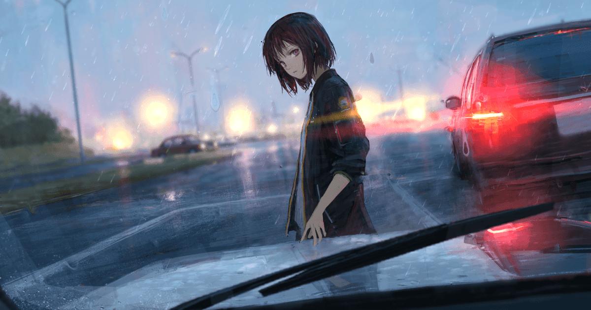 23 Anime Scenery Wallpaper Rain Di 2020 Pemandangan Anime Rwby