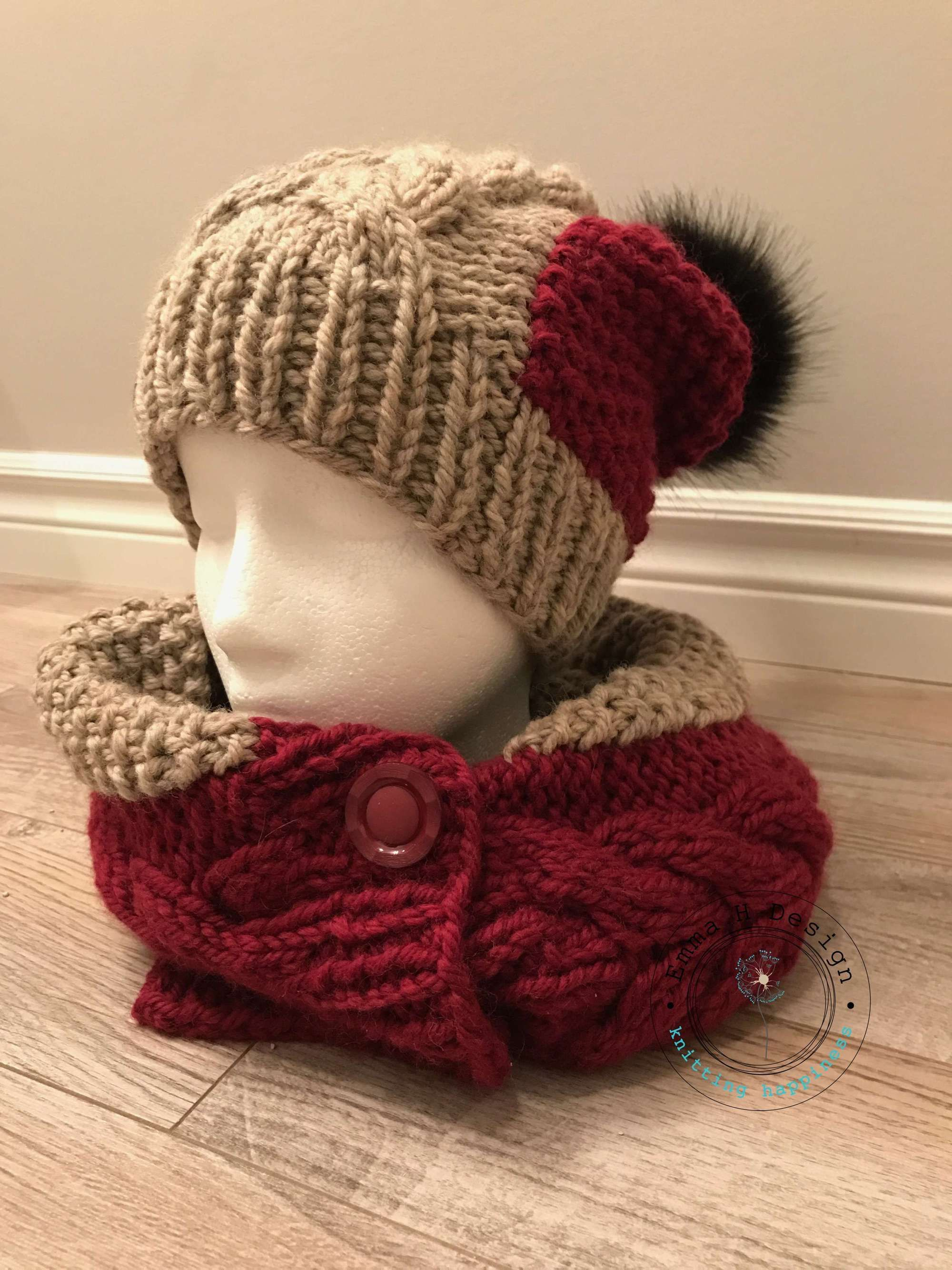 Ensemble bonnet et snood \