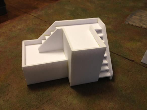 Foamcore building templates for miniatures and role playing for