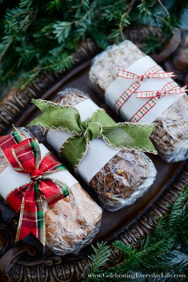 How to Wrap Baked Goods - Celebrating everyday life with Jennifer Carroll - How To Wrap Baked Goods Food Christmas, Gifts, Christmas Food Gifts