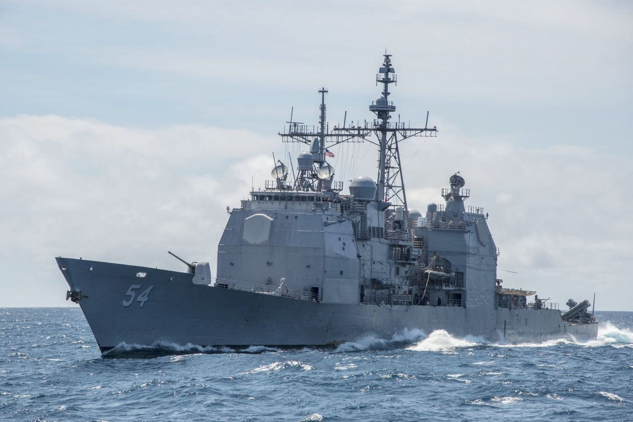 Opinion A Naval Message For China Uss Antietam Warship South China Sea