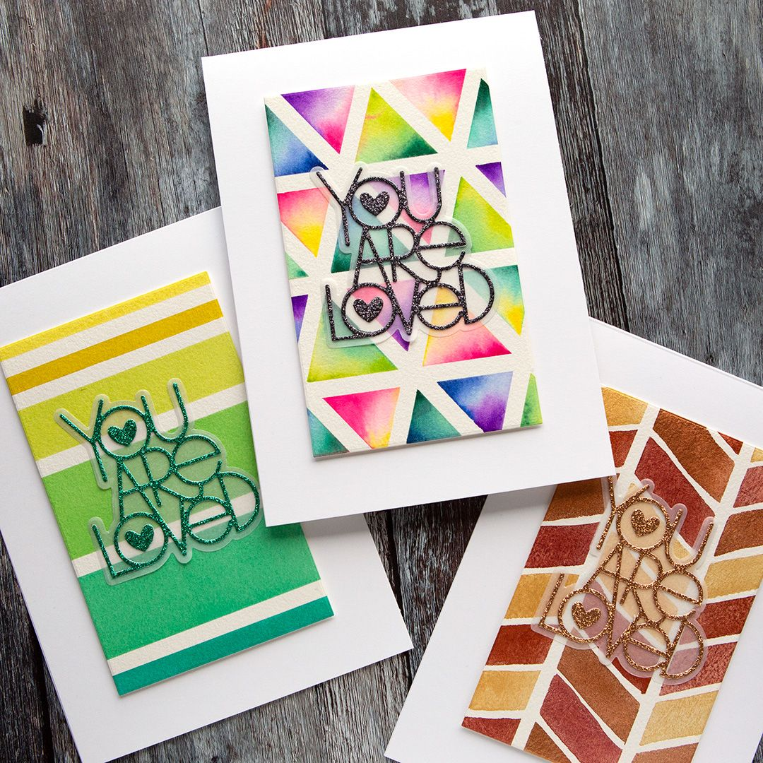 Simple Watercolor Patterns With Masking Tape Simon Says Stamp Blog Masking Tape Art Watercolor Pattern Tape Pattern