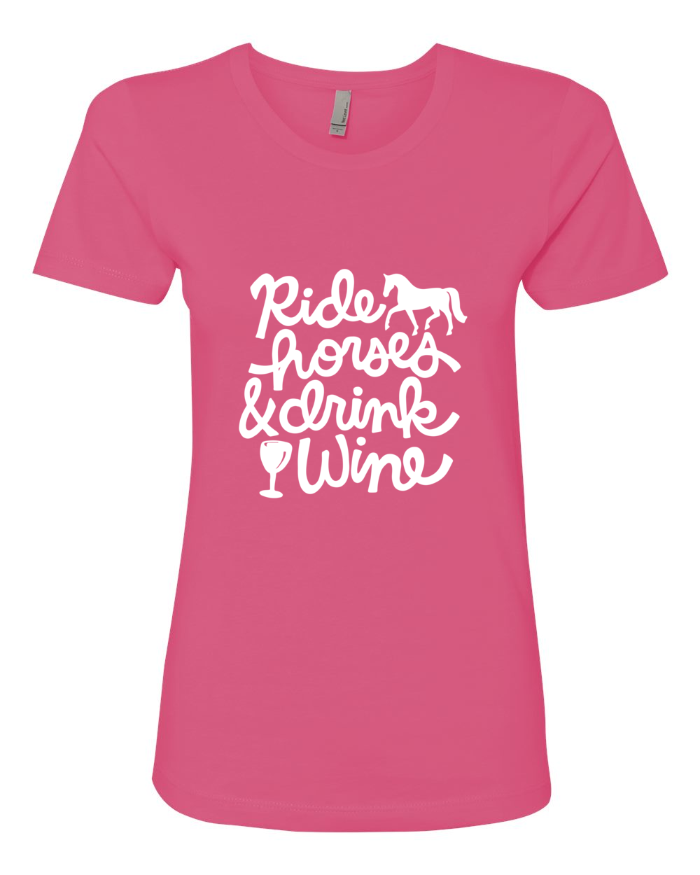 Ride horses & drink wine - what more could you ask for? Get this great horse t-shirt at www.dapplebay.com