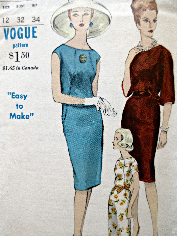 Vintage Vogue 5929 Sewing Pattern 1960s Shift Dress Pattern Etsy Kleider [ 3000 x 2250 Pixel ]