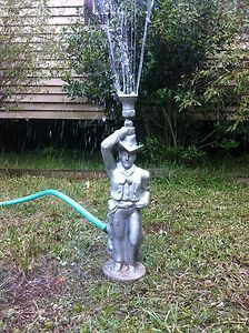 Vintage Decorative Metal Cowboy Lawn Sprinkler eBay glorious