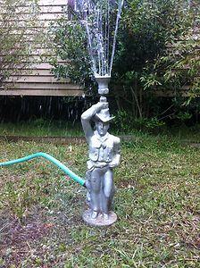 Vintage Decorative Metal Cowboy Lawn Sprinkler eBay glorious