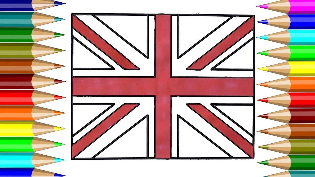 United Kingdom Flag Coloring book | How to draw United Kingdom Flag ...
