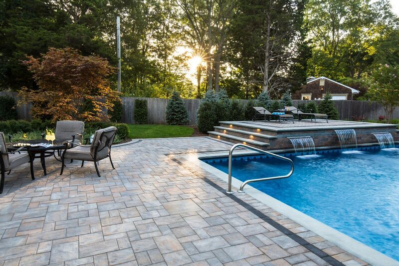 Merveilleux Barry Bros Landscape Updated This Long Island Pool Patio With Pavers. They  Used Cambridge Pavingstones With ArmorTec To Updated This Backyard Oasis.