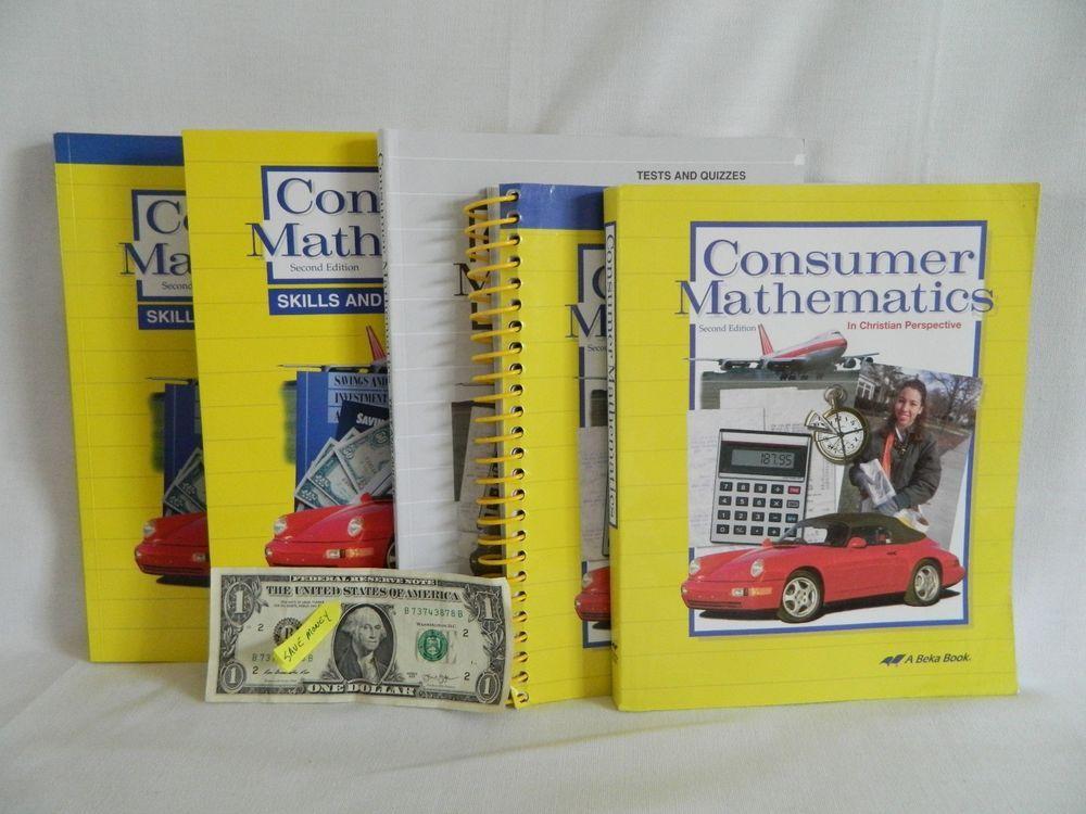 ABeka Consumer Math Student w. Teacher & Test w Reviews School ...