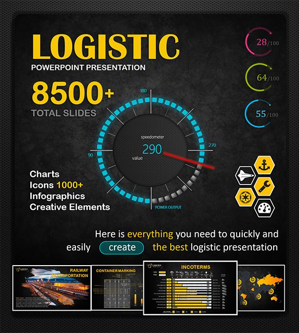 Big Logistic Powerpoint Template Cargo Container Power Point