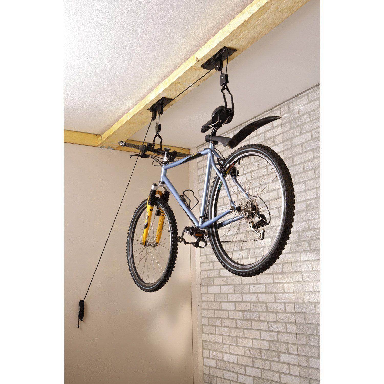 Crochet pour 1 vélo MOTTEZ Destination:Plafond Nombre de vélos:1 Couleur:Noir …