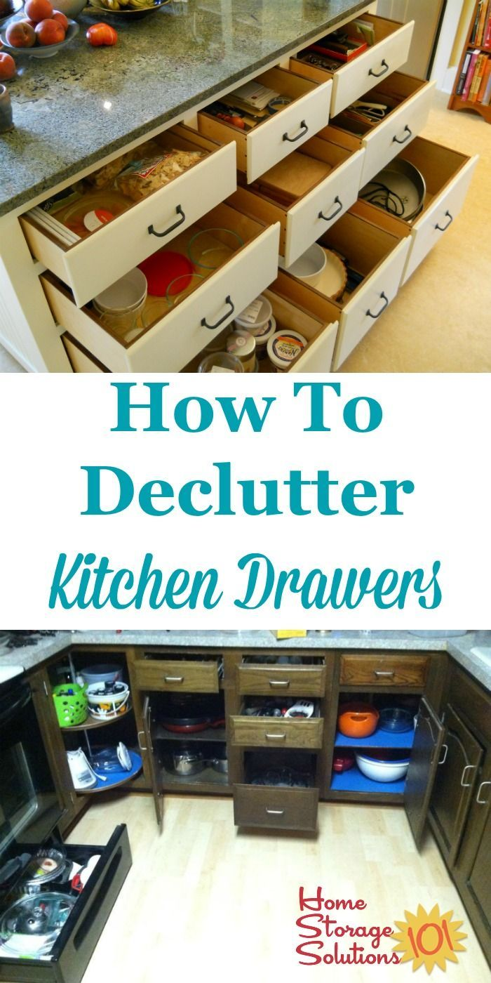 How To Declutter Kitchen Drawers | Kitchen drawers, Decluttering and ...