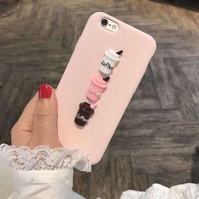 For Huawei P8 Lite 2017 P9 P10 P20 Lite Plus Nova Honor 6c 6a Honor 9 Mate10 Lite 3d Coffee Milk Cute Matte Candy Silicone Case Nabitoo Com Iphone Food Iphone