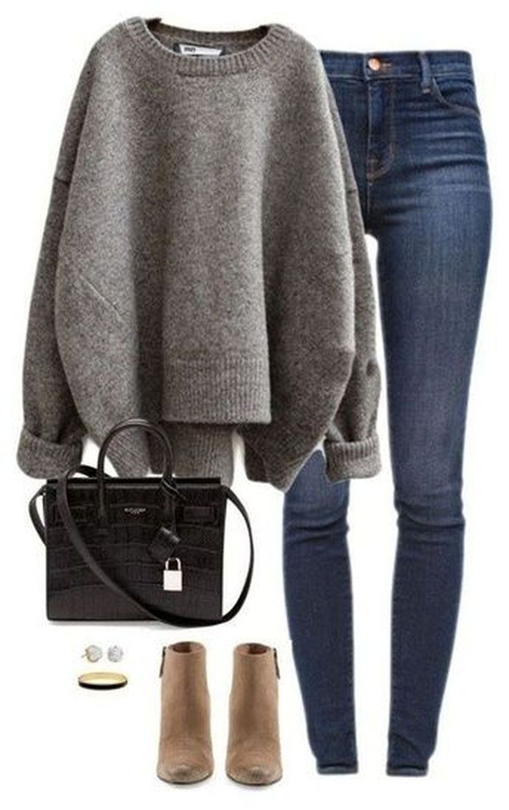 36 stilvolle Pullover Outfit für den kalten Winter #winteroutfitscold