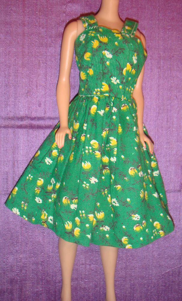 Vhtf Barbie Clone Miss Babette Babs Hk Lilli Adorable Green Yellow