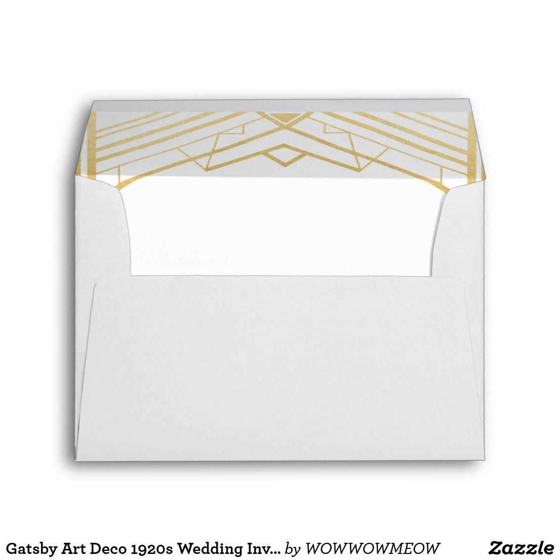 Gatsby Art Deco S Wedding Invitation Envelopes