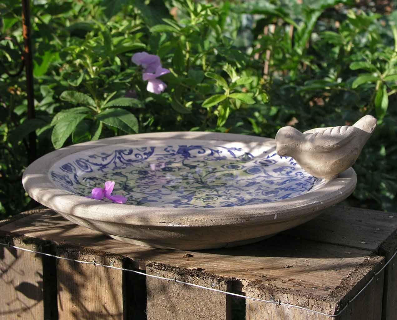 Small Ceramic Bird Bath Ceramic Bird Bath Bird Bath Concrete Bird Bath