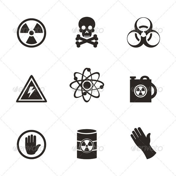 Danger Icons #GraphicRiver