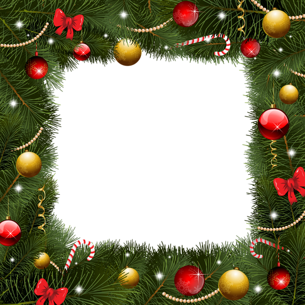 christmas border transparent