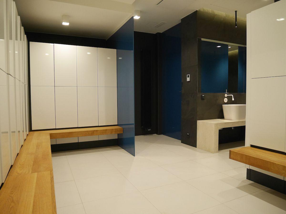 Gym lockers locker room fitness club interior design