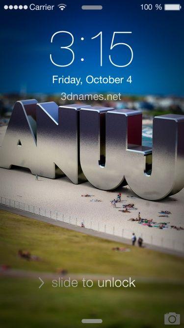 Anuj As A 3d Wallpaper Name Wallpaper 3d Wallpaper Wallpaper