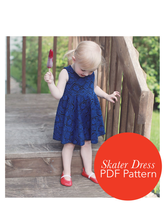 679dfc8db2 Circle Skirt Dress PDF Pattern for Toddler 18 months to 4T | Baby ...