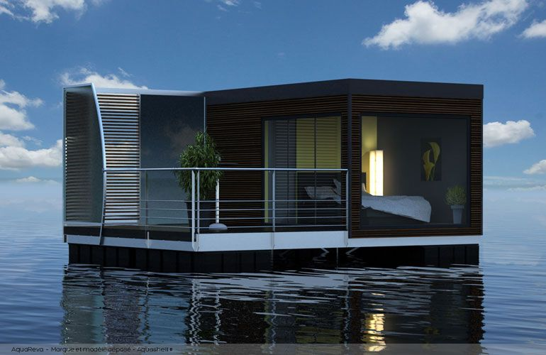 aquareva entre la cabane flottante et la petite maison kellu 1 pinterest floating house. Black Bedroom Furniture Sets. Home Design Ideas