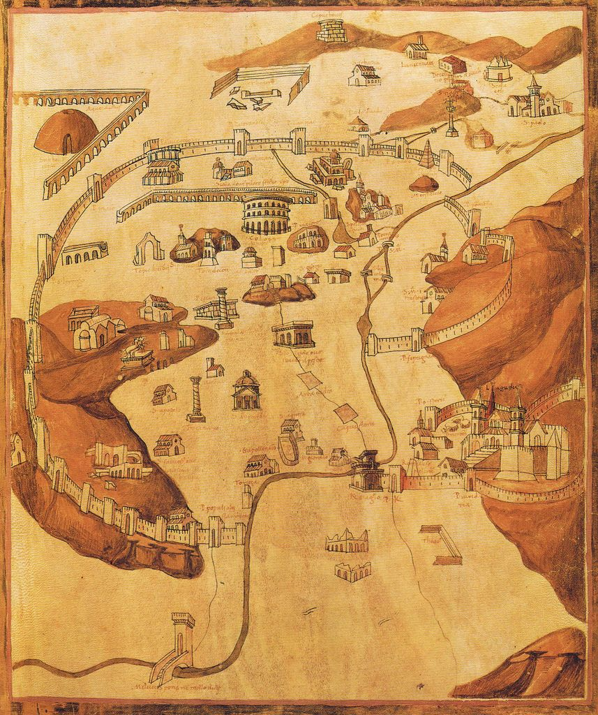 me val map of rome from ptolemaeus cosmographia 1469 rome bav