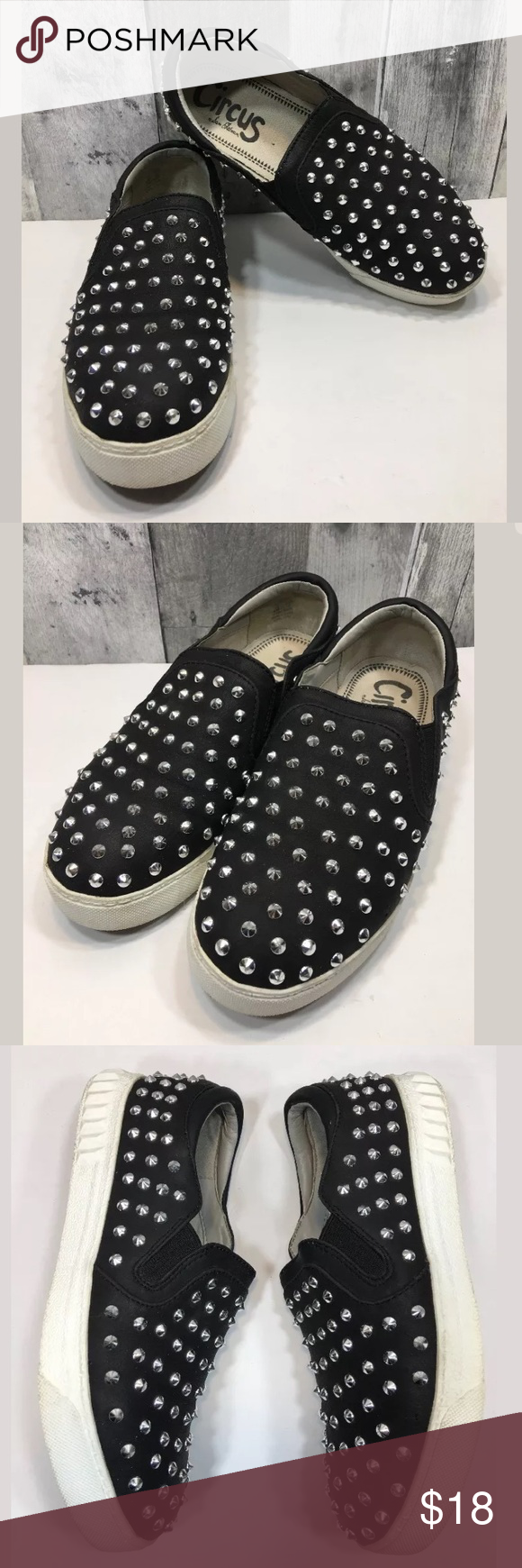 d614816d8 Circus Sam Edelman Carlson Studded Slip On Shoes Circus By Sam Edelman  Carlson Black Studded Slip On Sneakers Shoes Sz 6 Shoes are in great used  condition!