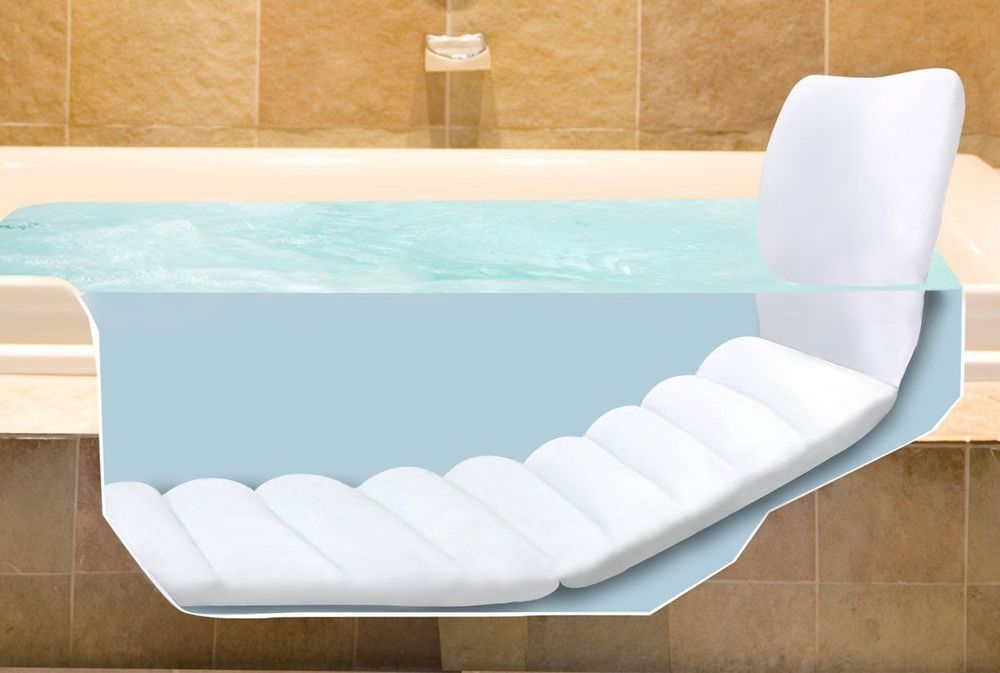 BATH TUB LONGER MAT FULLBODY INFLATABLE SOFT CUSHION HEAD REST BATHROOM  RECLINE   $34.99