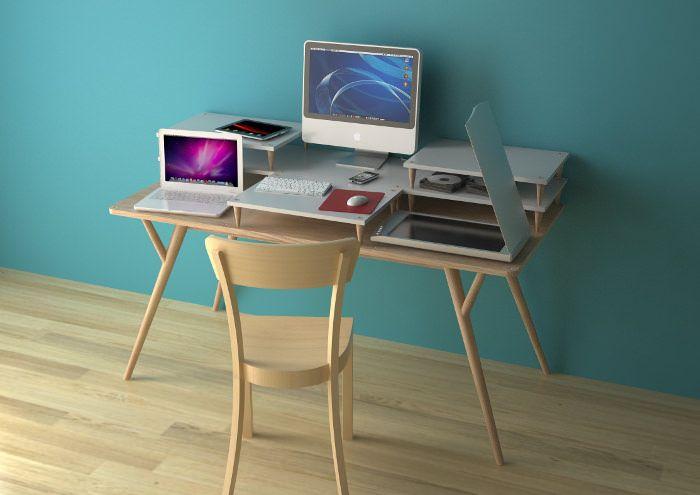 Le bureau à niveaux ADE par Manrico Freda Bureau, Espace de