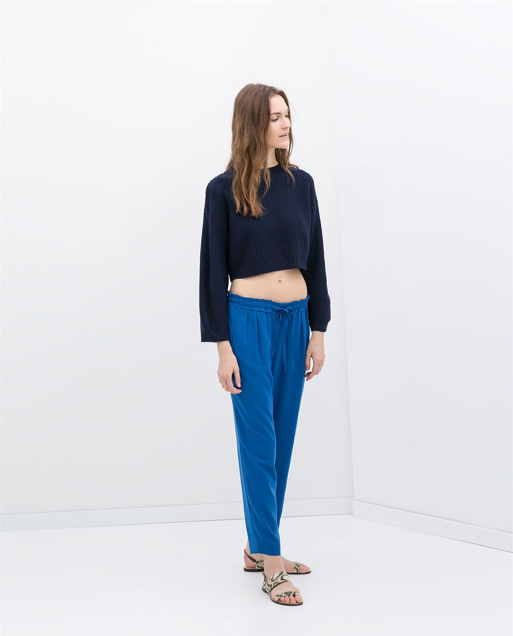 ZARA  - DRAWSTRING LOOSE FIT TROUSERS. Comfy style.