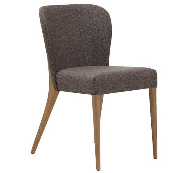 Silla de roble para comedor tapizada estilo actual, silla de ...