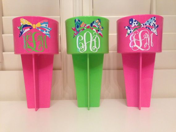 Lilly Pulitzer Spikers available with monogram and bow or hat completely customizable with other designs on Etsy, $12.00