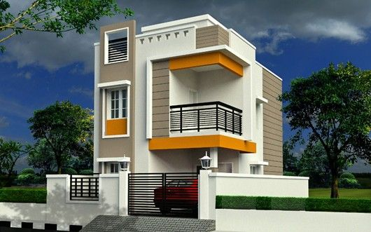 Image result for front elevation designs for duplex houses for Front view of duplex house in india